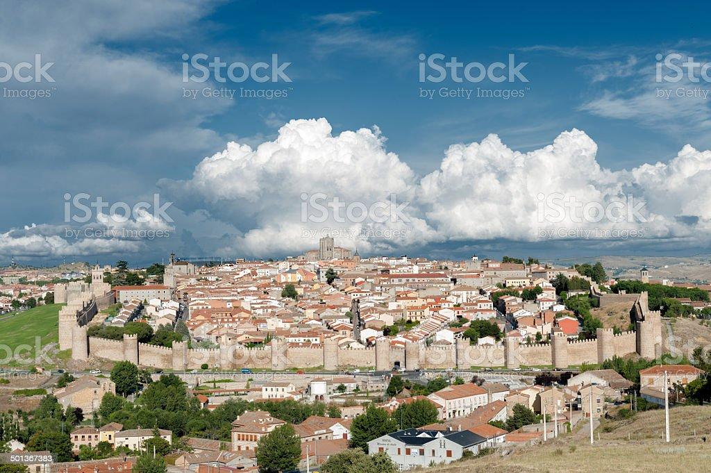 City of avila stock photo