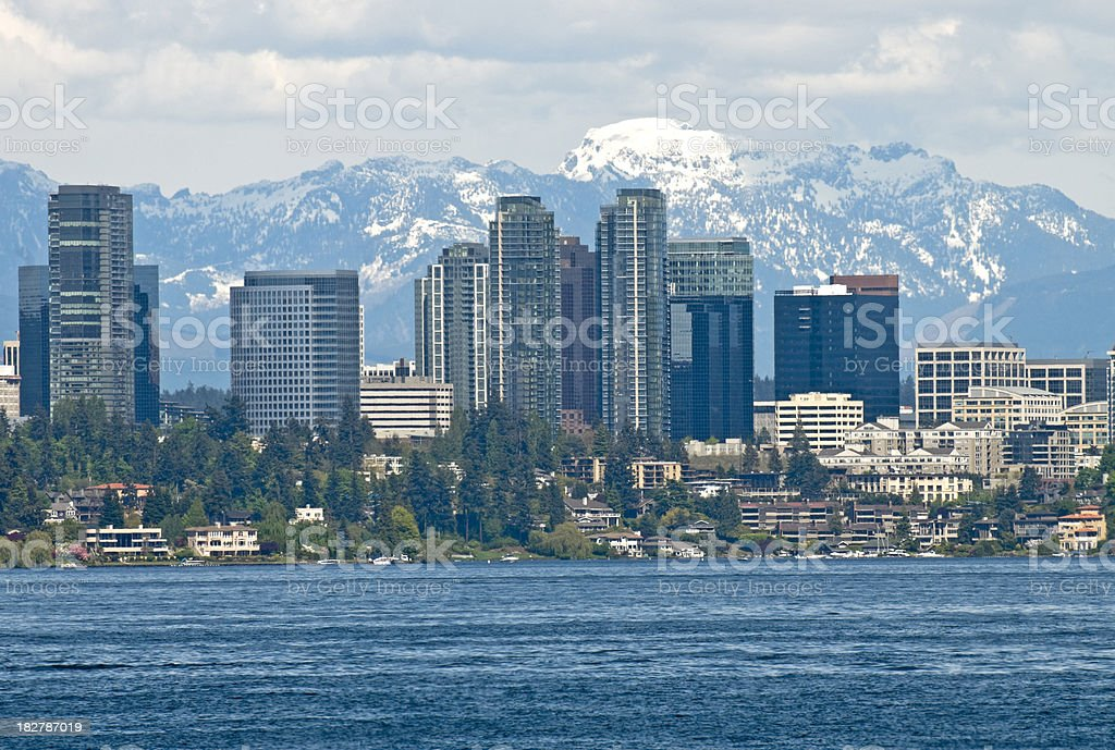 City of Bellevue in Washington stock photo