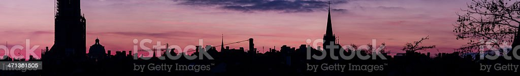 City of Bern at Sunset royalty-free stock photo