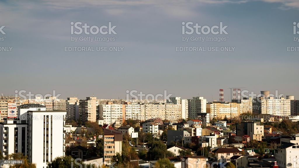 City of Bucharest (View From Above) stock photo