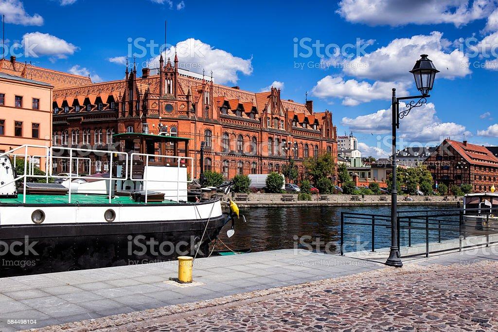 City of Bydgoszcz in Poland stock photo