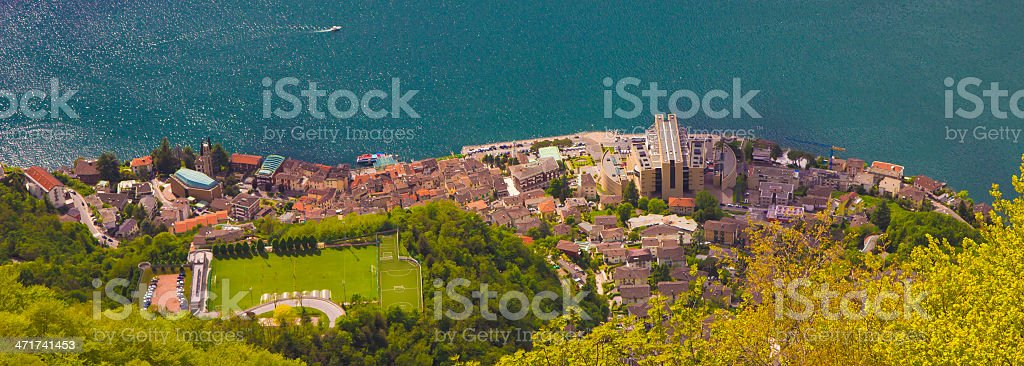 City of Campione d'Italia stock photo