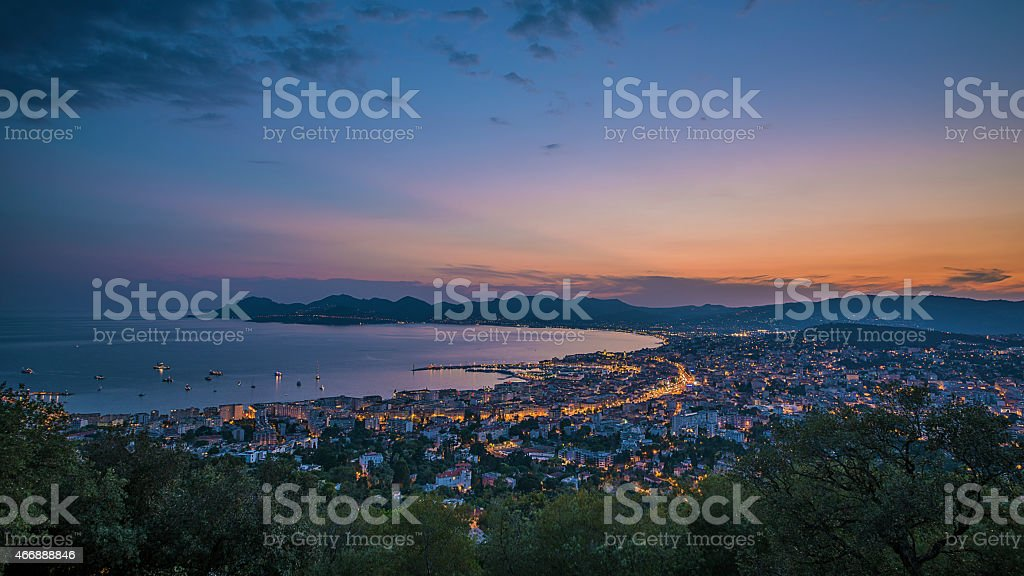 City of Cannes stock photo
