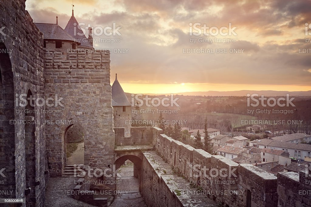Cite de Carcassonne, France stock photo