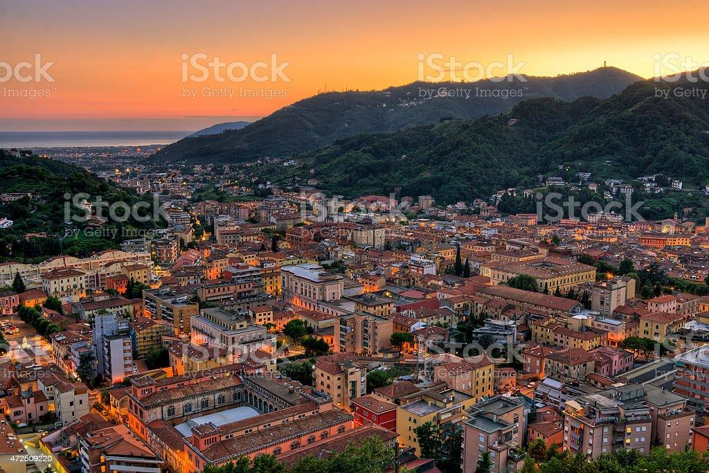 City of Carrara stock photo