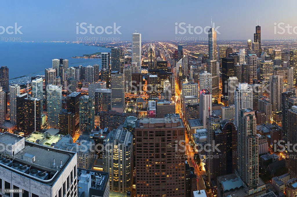 City of Chicago. stock photo