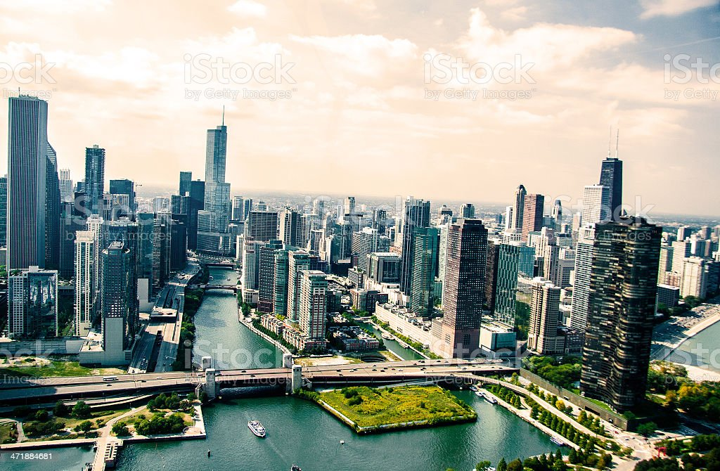 City of Chicago stock photo
