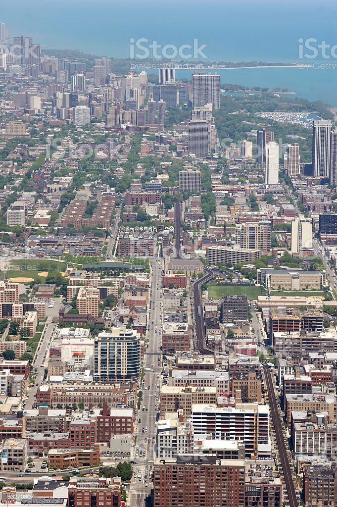 City of Chicago royalty-free stock photo