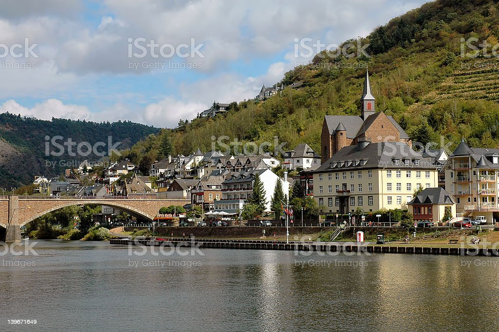 City of Cochem, Germany on the Mosel River royalty-free stock photo