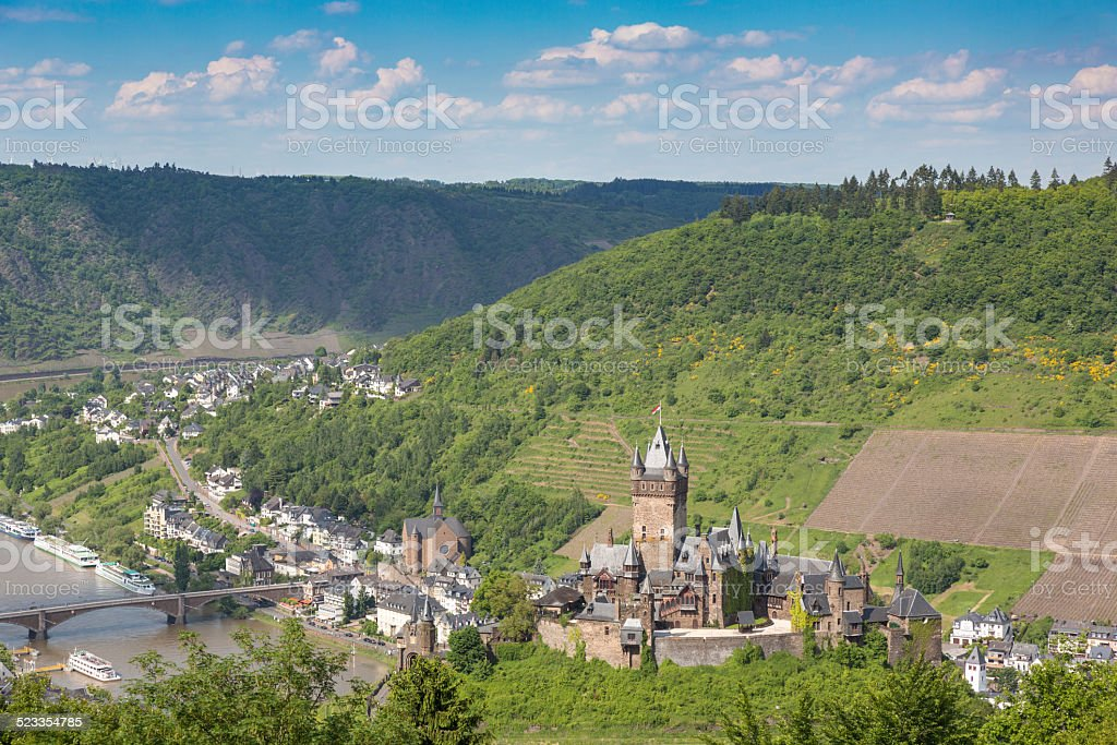City of Cochem View, Germany stock photo