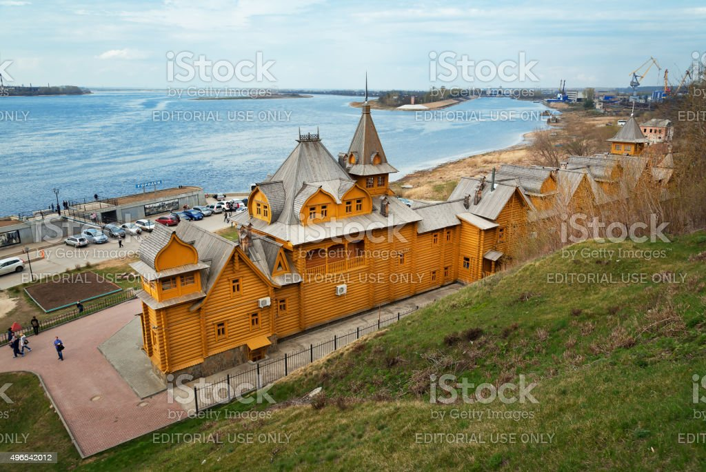 City of Craftsmen in Gorodets stock photo