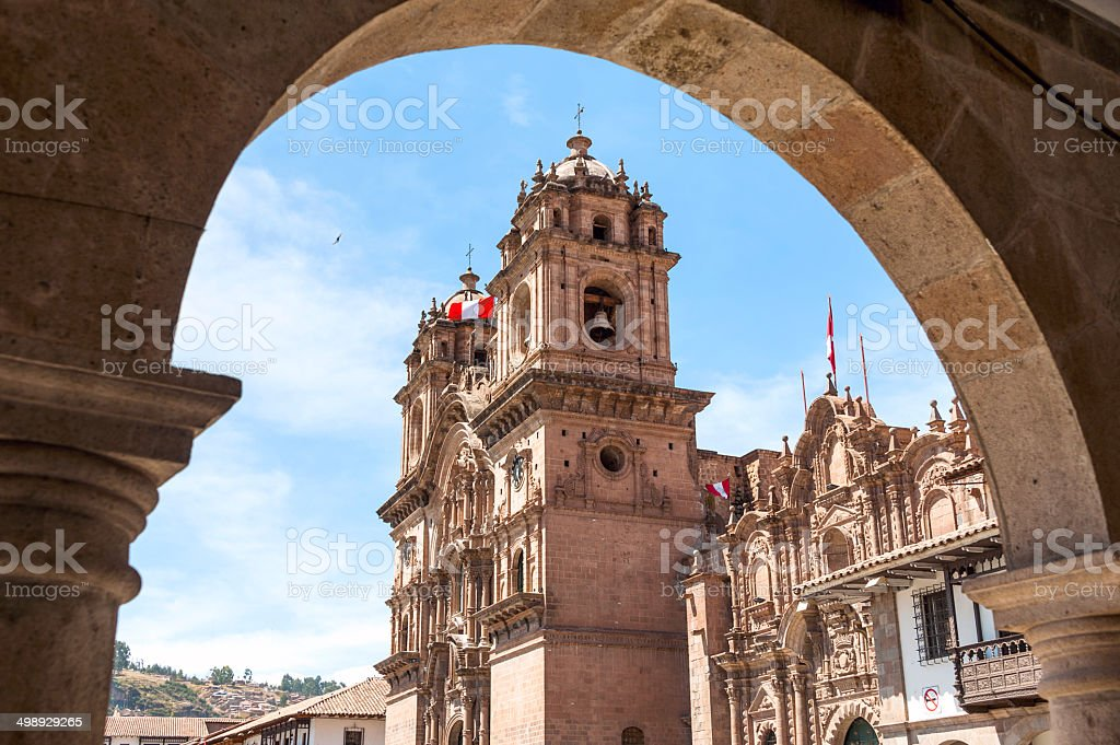 City of Cuzco in Peru, South America stock photo
