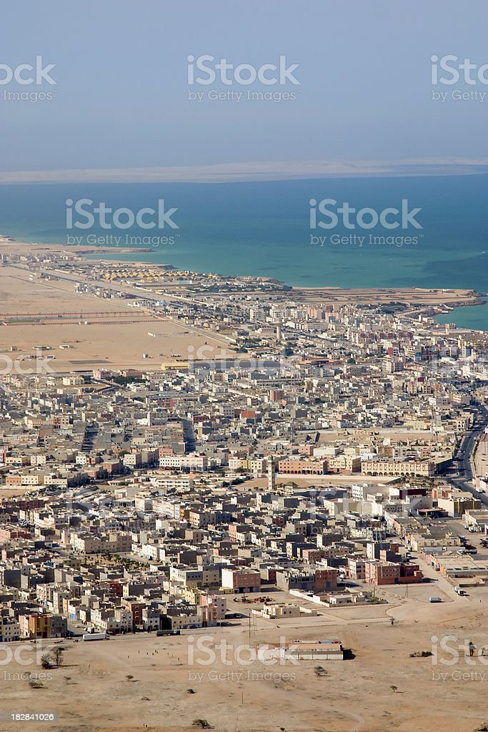 City of Dakhla (also ad-Dakhla) in the Western Sahara. stock photo