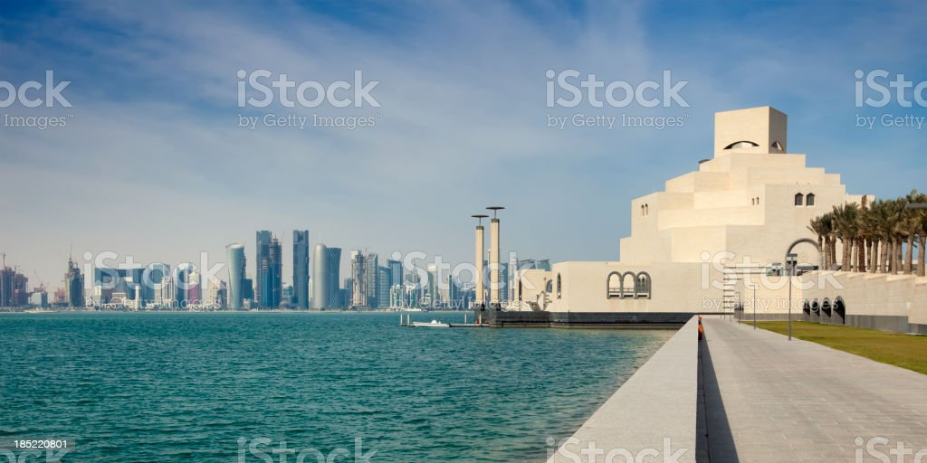 City of Doha stock photo