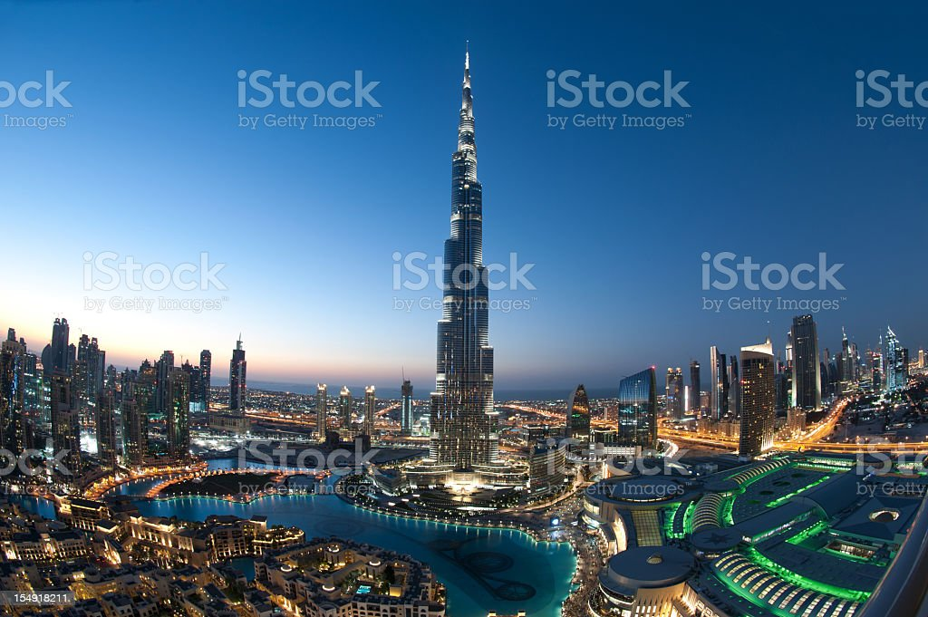 City of Dubai Burj Khalifa stock photo