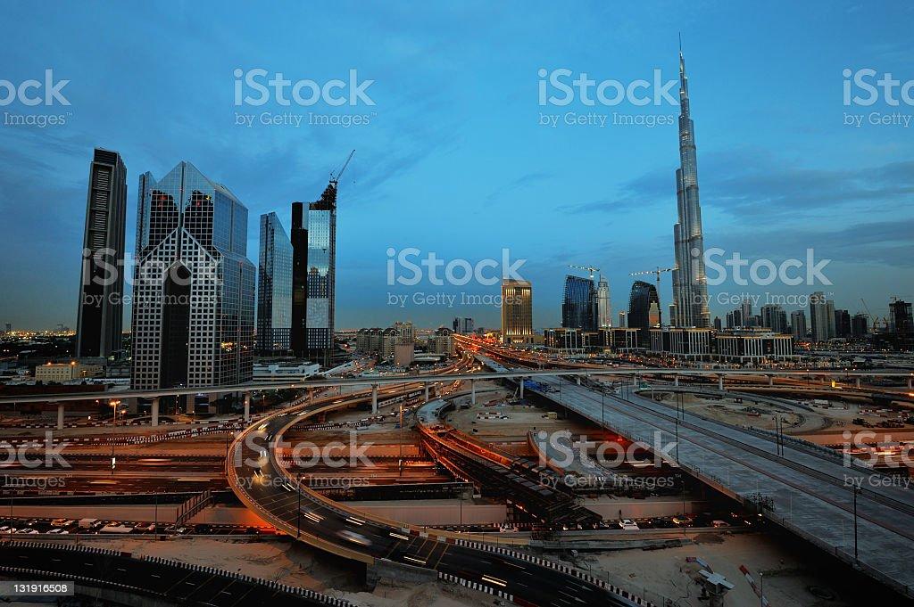 city of dubai royalty-free stock photo