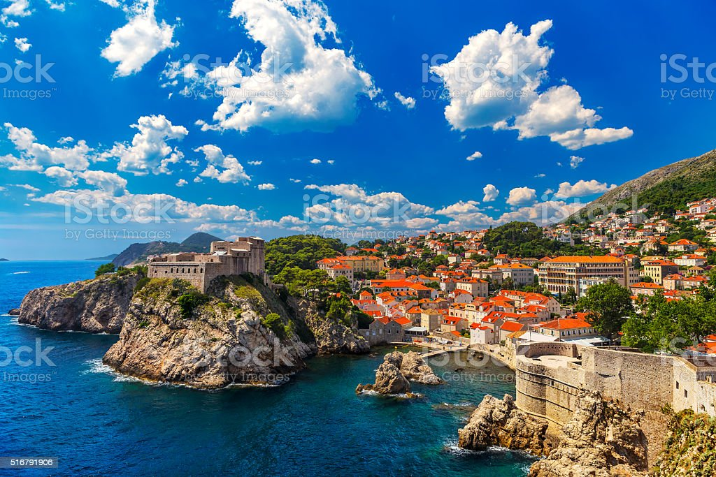 City of Dubrovnik stock photo