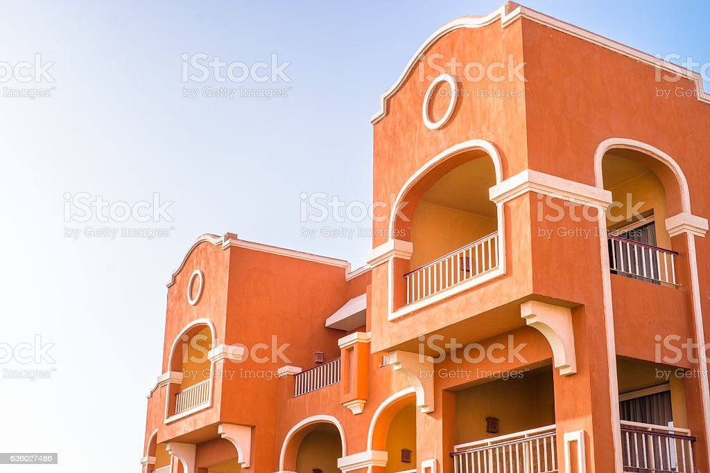 City of Egypt: building on streets of Safaga and Hurghada stock photo