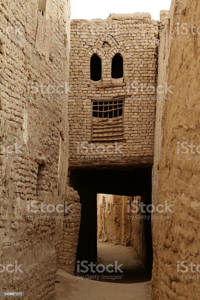city of El Qasr in the Sahara Desert in Egypt stock photo