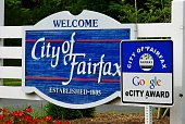City of Fairfax Welcome Sign