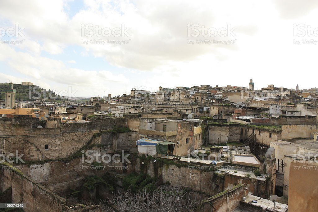City of Fez Morocco - overview perspective stock photo