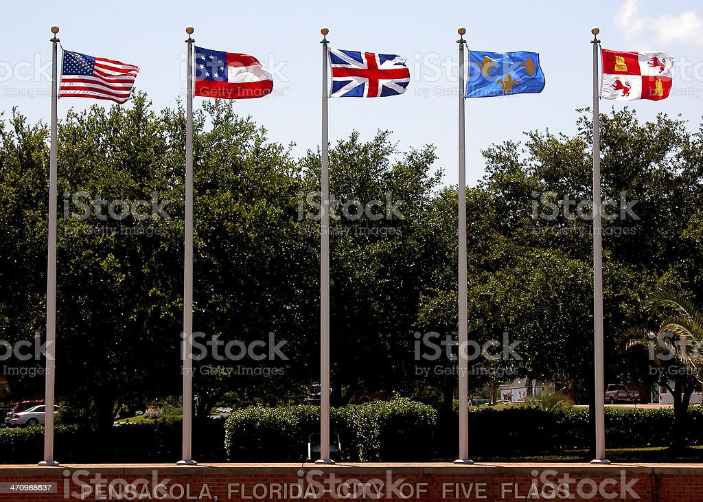 city of five flags stock photo
