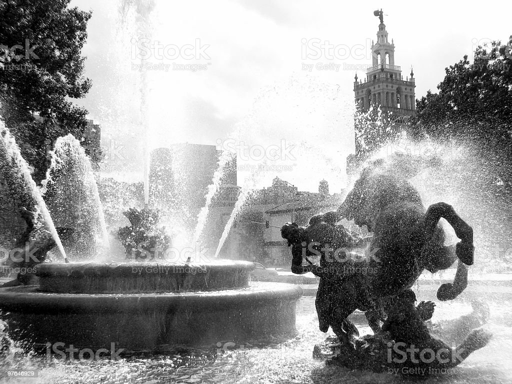 City of Fountains stock photo