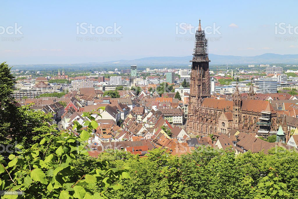 City of Freiburg Black Forst Schwarzwald stock photo