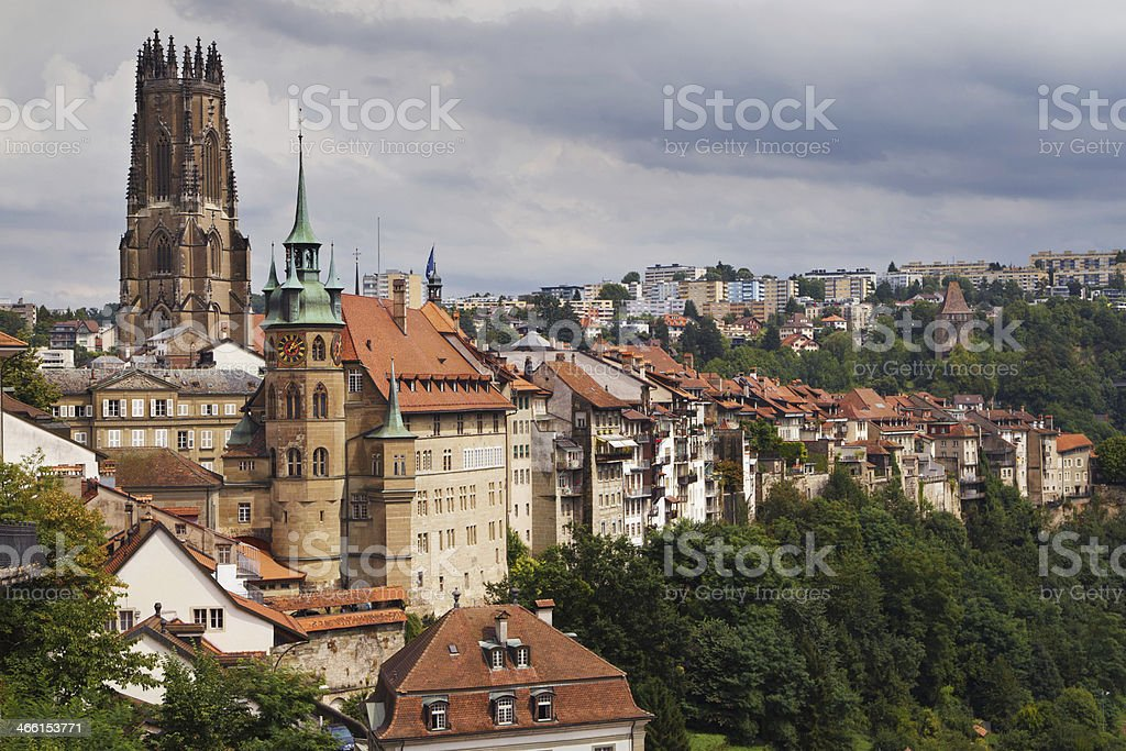 City of Fribourg stock photo