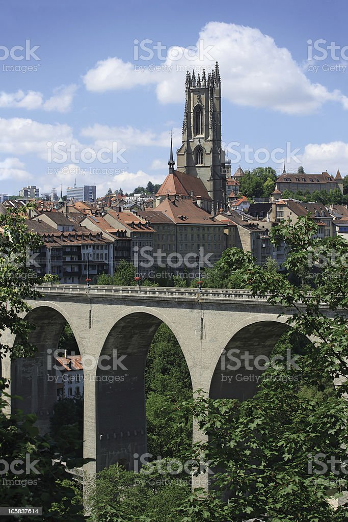 City of Fribourg Switzerland royalty-free stock photo