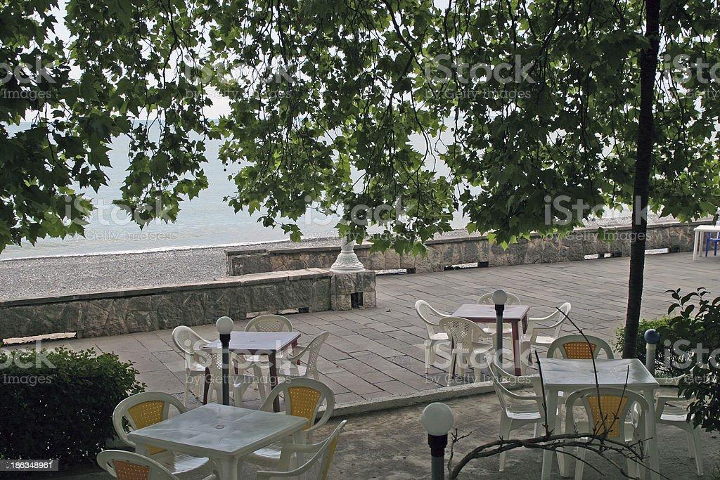city ?€‹?€‹of Gagra summer urban landscape royalty-free stock photo