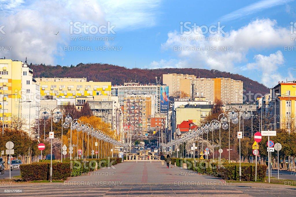 City of Gdynia, Poland. stock photo