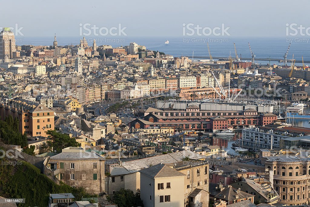 city of Genoa stock photo