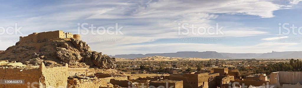 City of Ghat, Akakus (Acacus) Mountains, Sahara, Libya stock photo