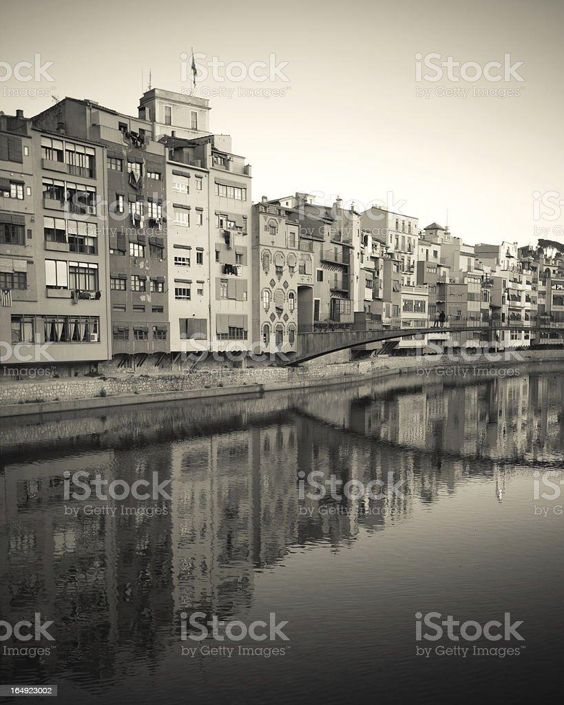 City of Girona royalty-free stock photo