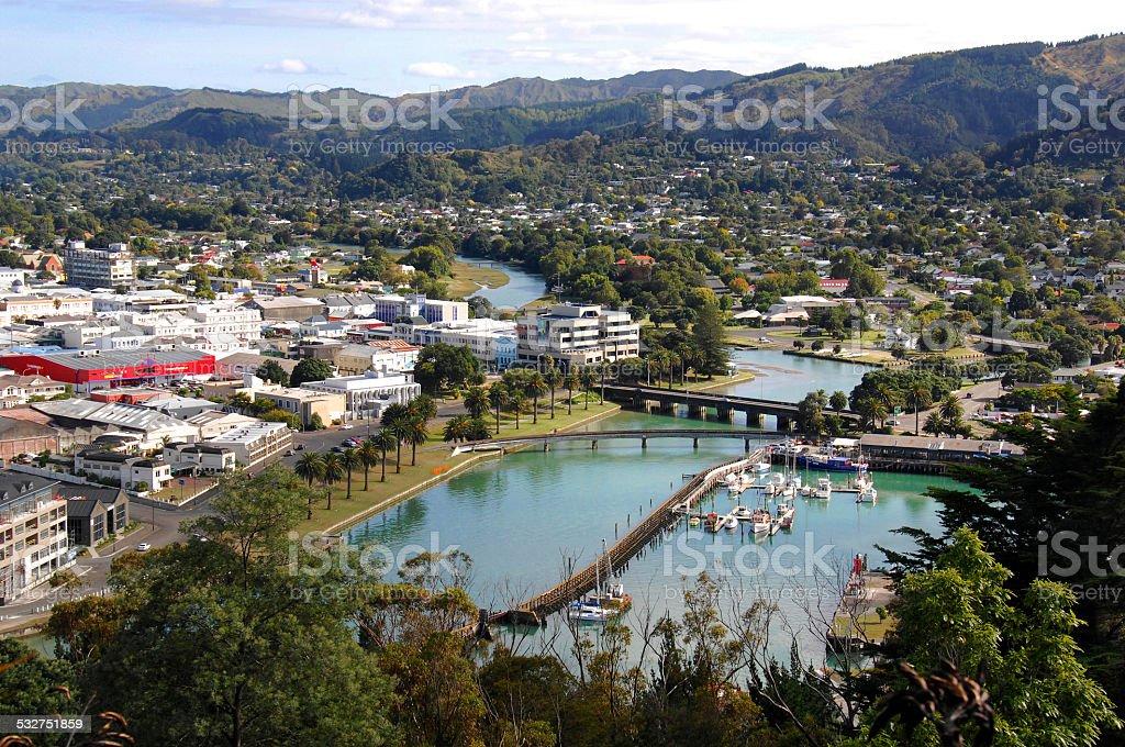 City of Gisborne, New Zealand stock photo