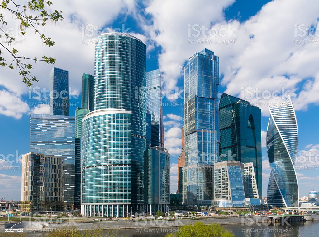City of glass and concrete stock photo