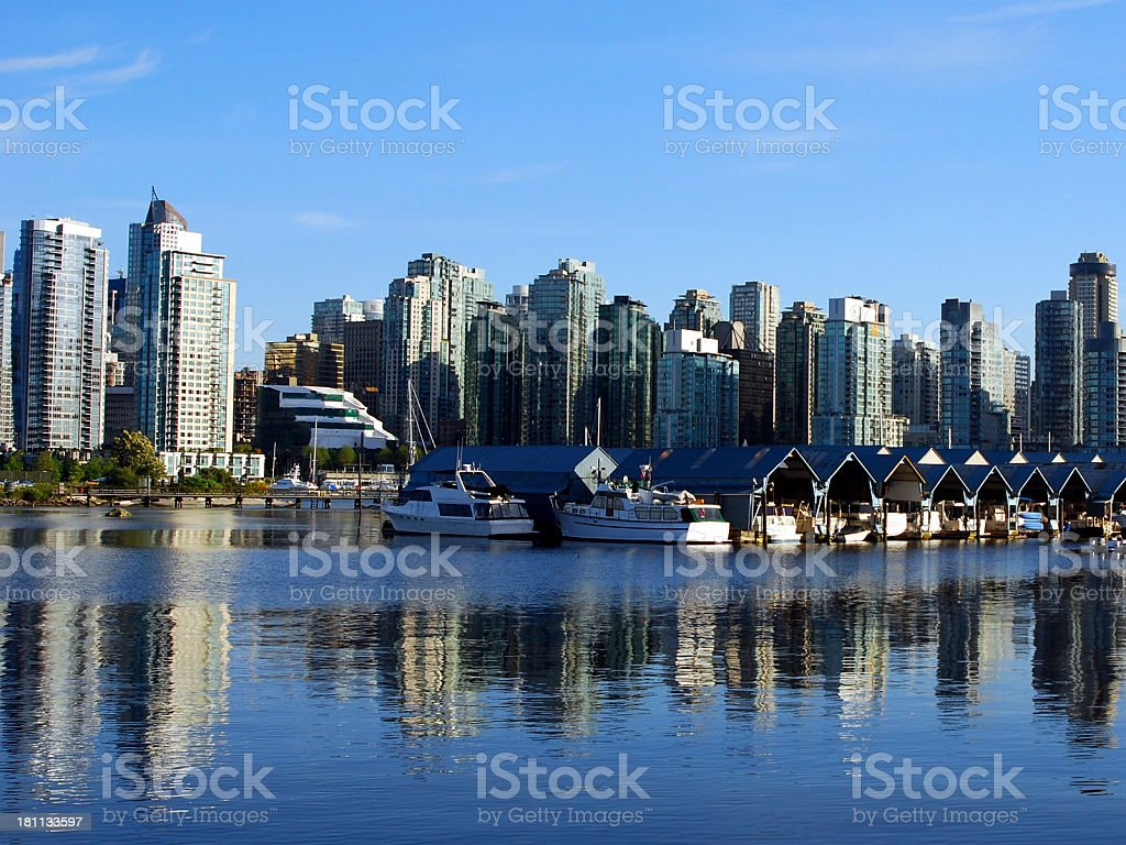 City of Glass royalty-free stock photo