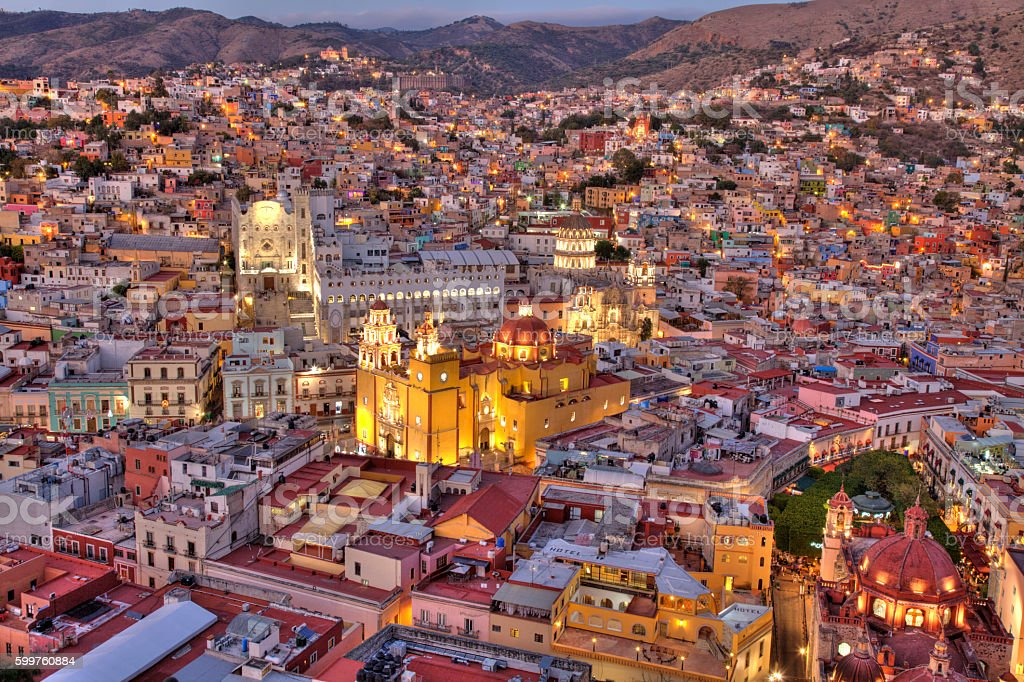 City of Guanajuato stock photo