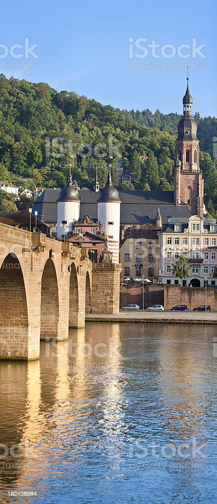 City of Heidelberg Germany with Old Bridge stock photo