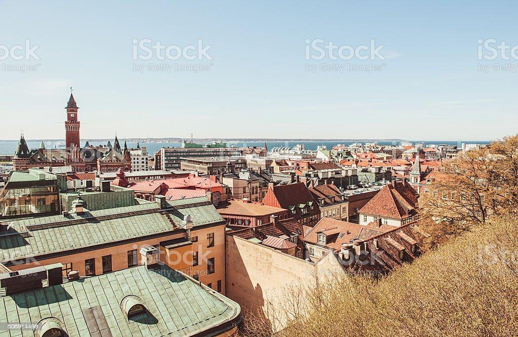 City of Helsingborg Skåne stock photo