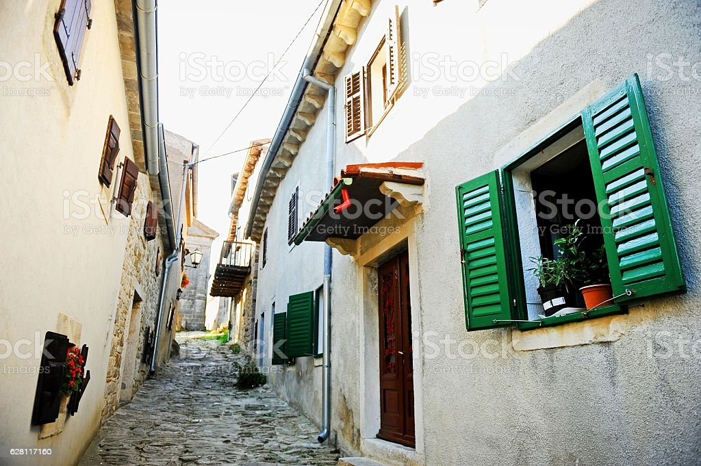 City of Hum in Croatia stock photo