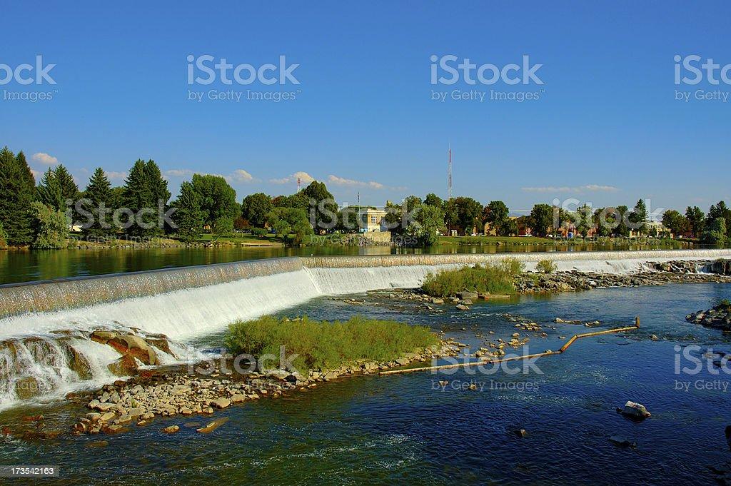 City of Idaho Falls royalty-free stock photo