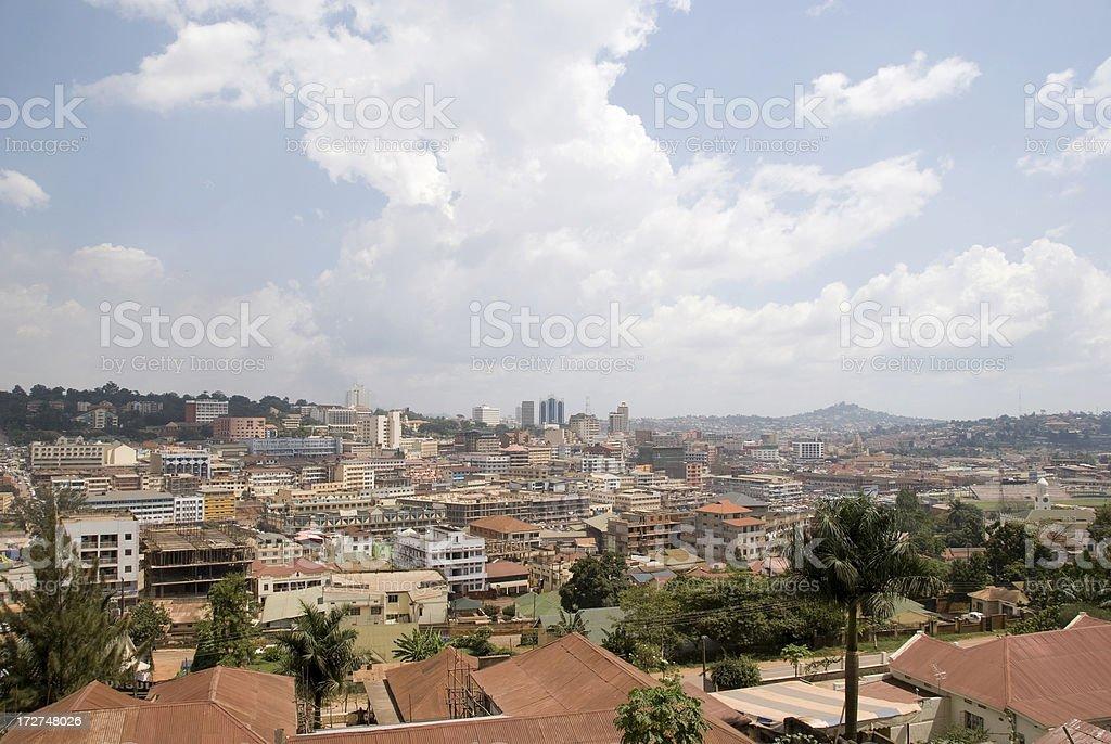 City of Kampala stock photo
