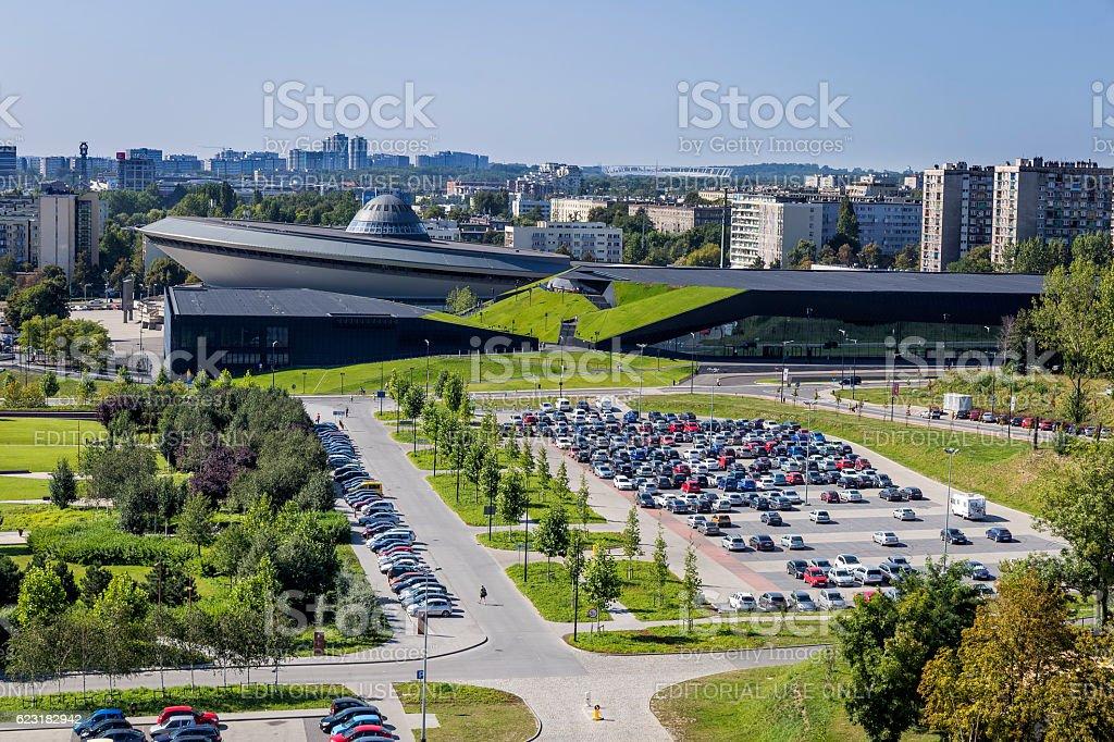 City of Katowice in Poland stock photo