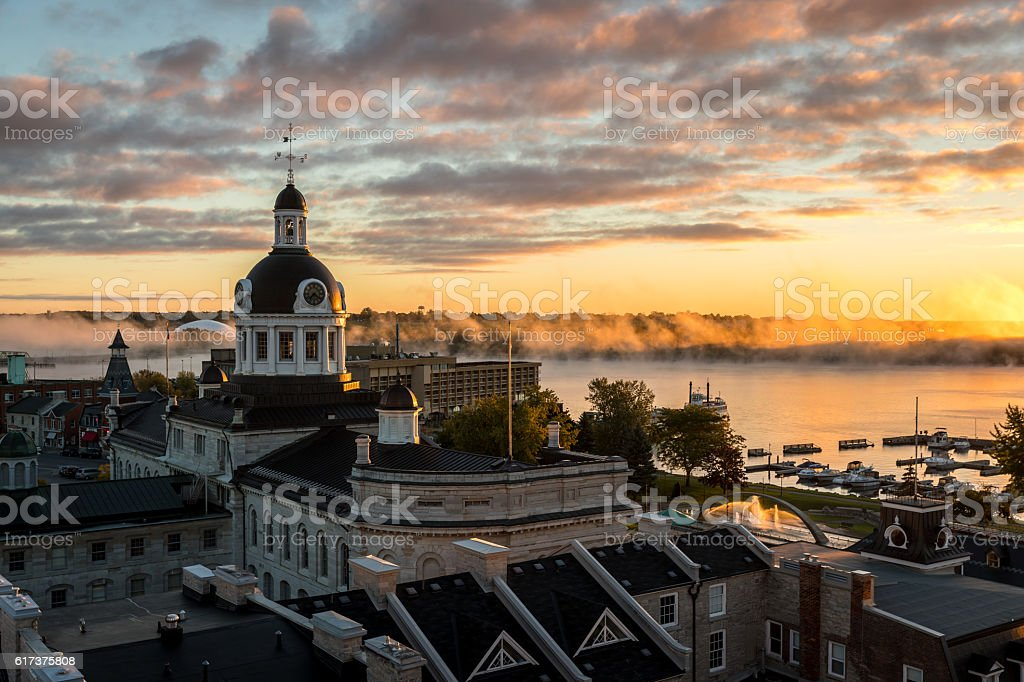City of Kingston Ontario, Canada at Sunrise stock photo