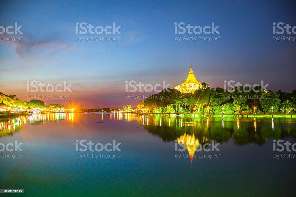 City of kuching stock photo