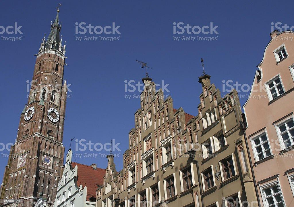 City of Landshut royalty-free stock photo