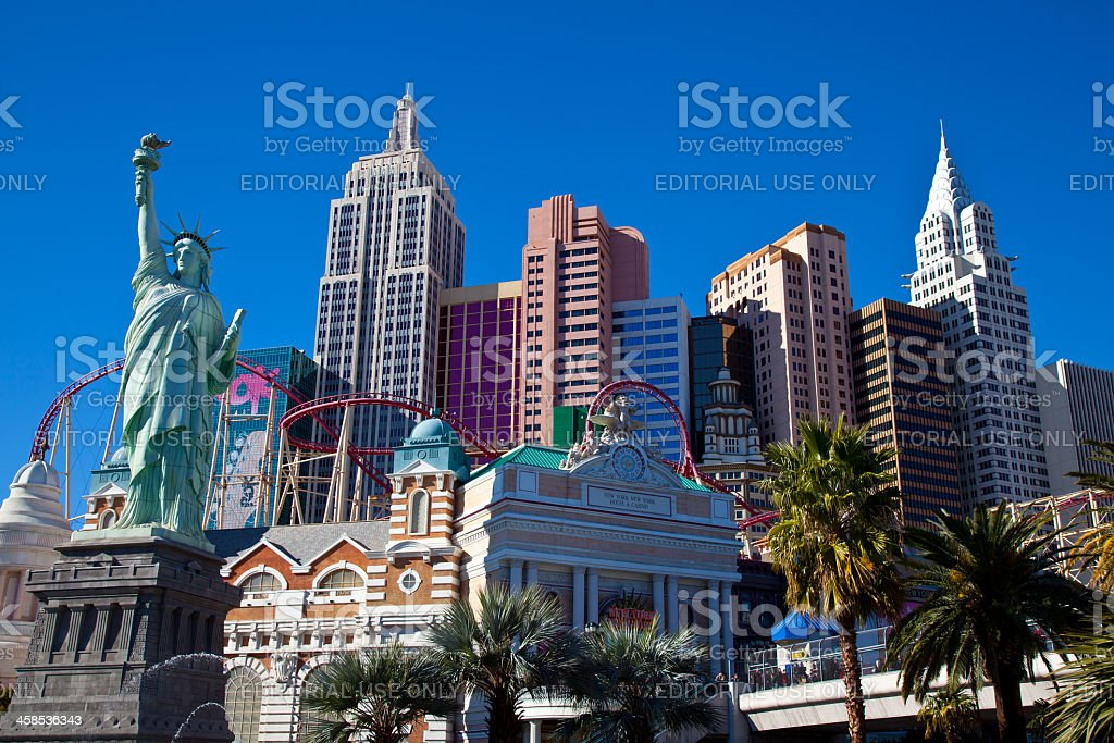 City of Las Vegas, New York-New York Hotel and Casino royalty-free stock photo