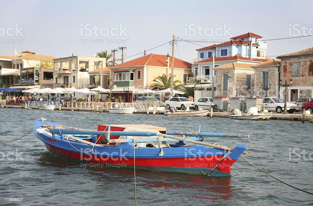 City of Lefkada stock photo